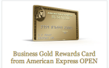 Increased Bonus for American Express Business Gold Rewards Card